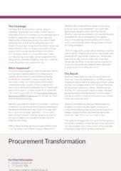 Procurement Transformation Case Study – 2020